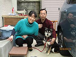 京都市西京区 川本様/ちよちゃん 犬種:黒柴 3歳9ヵ月